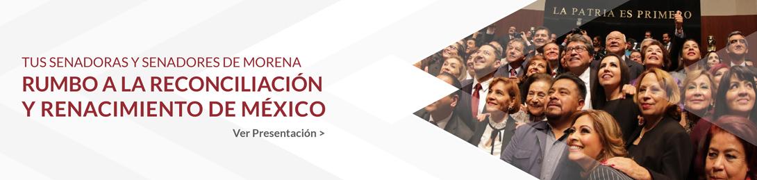 Banner - Tus senadores de morena rumbo a la reconciliación y renacimiento de México
